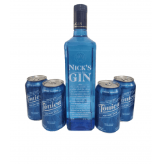 KIT GIN - 1 GIN NICKS + 4 TONICAS ANTARCTICA
